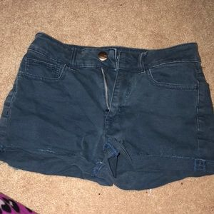 Blue American eagle shorts